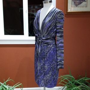 BCBGMAXAZRIA purple print dress